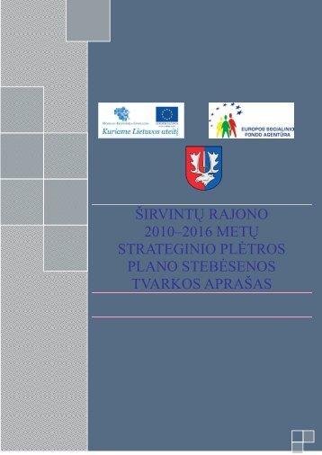 Širvintų rajono 2010-2016 m. strateginis plėtros planas (Nr. 4)