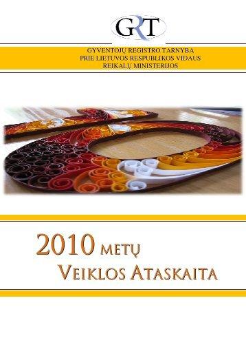 VEIKLOS ATASKAITA - Gyventojų registro tarnyba