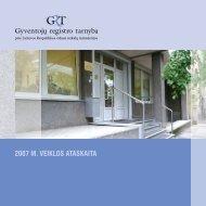 2007 M. VEIKLOS ATASKAITA - Gyventojų registro tarnyba