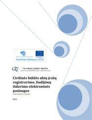 Civilinės būklės aktų įrašų registravimo, liudijimų išdavimo ...