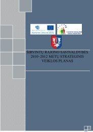 širvintų rajono savivaldybės 2010–2012 metų strateginis veiklos ...