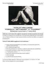 "vitality wellness formula ""settimana"" o ""3 giorni"" - Villa Paradiso ..."