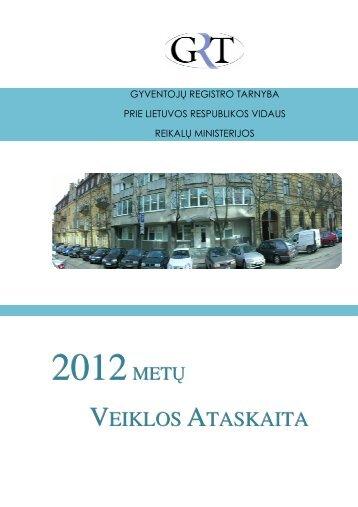 2012 m. veiklos ataskaita - Gyventojų registro tarnyba