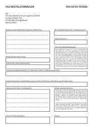 FAX-BESTELLFORMULAR FAX 02161-955006