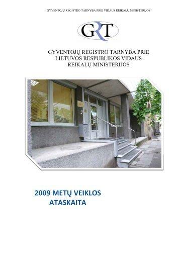 2009 METŲ ATASKAITA - Gyventojų registro tarnyba