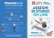 Brochure assegni di studio 2013 - Regione Piemonte