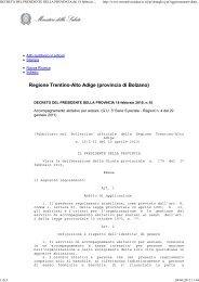 Decreto Pres. Prov. N. 10 del 18/02/2010