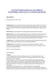 patto internazionale sui diritti economici, sociali e culturali - Aifo