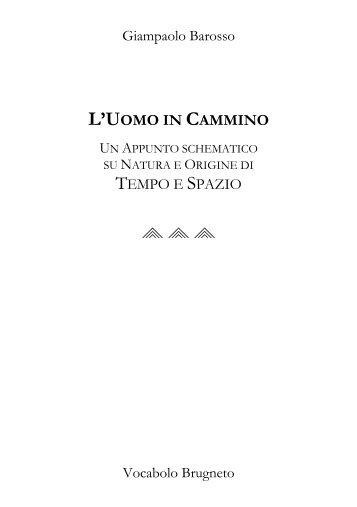 L'UOMO IN CAMMINO - giampaolo barosso