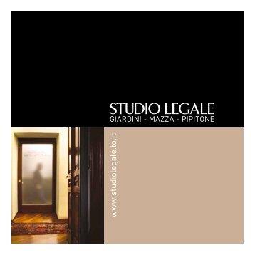 Scarica il PDF della brochure - Studio Legale
