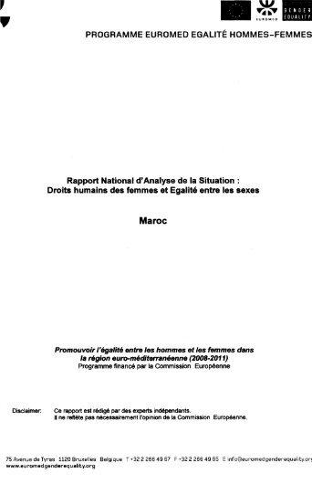 Droits humains des femmes et Egalité entr - Bibliothèque Nationale ...