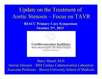 Aortic Stenosis and the Role of Transcatheter Aortic ... - Riacc.org