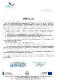 ZAPROSZENIE - Wydział Nauk Ekonomicznych SGGW w Warszawie