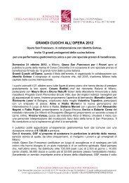 Domenica 21 ottobre 2012 Opera San Francesco per i Poveri, viale ...