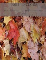 Fall 2009 Newsletter - Cimba