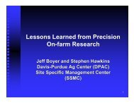 Lessons Learned from Precision On-farm Research