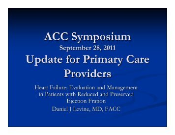 Congestive Heart Failure: Evaluation and Management ... - Riacc.org