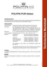 Technisches Merkblatt - Polyfin AG