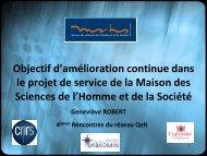 Objectif du projet - Réseau Qualité en Recherche - CNRS