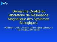 Aucun titre de diapositive - Réseau Qualité en Recherche - CNRS
