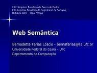 Web Semântica - sbbd sbes