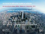 Les normes et référentiels qualité en recherche •LRQA, •Michel ...