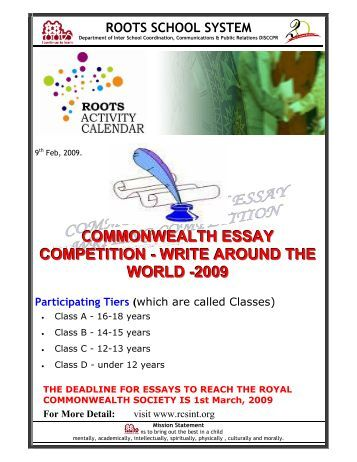 commonwealth essay competitions 2010
