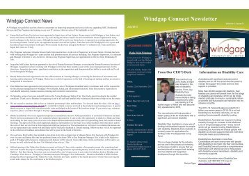 Windgap Connect Newsletter July 2013 volume 1, issue 9