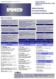 Calendrier de l'année universitaire 2011-2012 - Faculté de ...