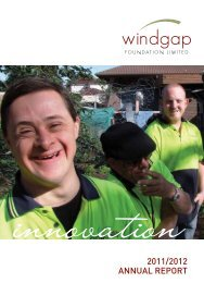 2011/2012 ANNUAL REPORT - Windgap Foundation