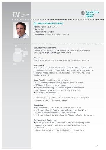 Dr. Diego Alejandro Armas - Diagnóstico Médico Oroño