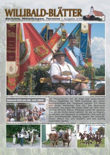 Berichte, Mitteilungen, Termine * Ausgabe 2/06 - Herzlich ...