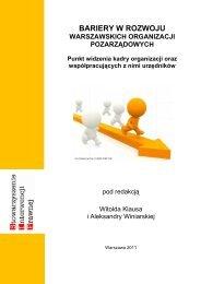 Bariery w rozwoju warszawskich organizacji ... - NGO - Warszawa