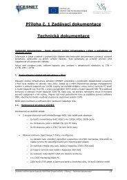 Příloha č. 1 Zadávací dokumentace Technická ... - Veřejné zakázky