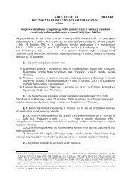 projektu zarządzenia Prezydenta m.st. Warszawy w sprawie ... - NGO