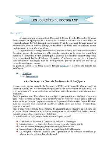 JDOC2010 - Faculté des Sciences Aïn Chock Casablanca