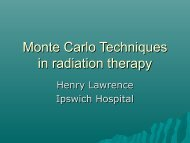 Monte Carlo Techniques in radiation therapy - mcneg