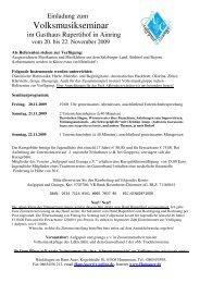 ausschreibung und anmeldung 2009 seminar ohne lehrer - Hans Auer