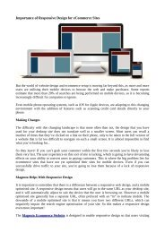 Importance of Responsive Design for eCommerce Sites