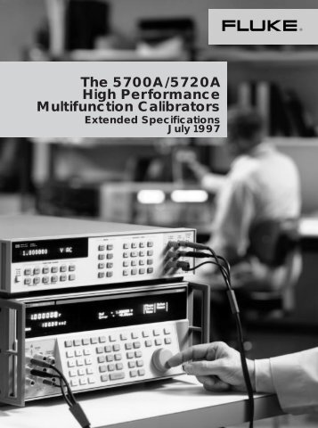 The 5700A/5720A High Performance Multifunction ... - MetricTest