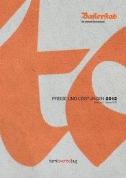 PREISE UND LEISTUNGEN 2012 - Baslerstab online
