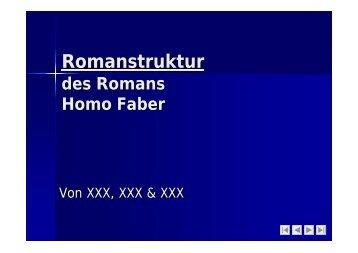 """Romanstruktur des Romans """"Homo Faber"""" als PDF (48 kB)"""
