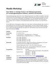Kursprogramm Moodle Workshop 2005 (PDF, 68 kB)