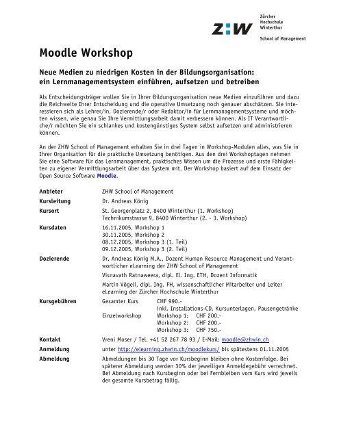 Kursprogramm Moodle Workshop 2005 (PDF, 68 kB)
