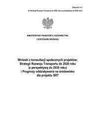 Strategii Rozwoju Transportu do 2020 roku