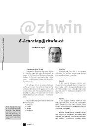 eLearning@zhwin.ch - Martin Vögeli