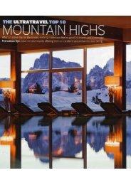 The UltraTravel Top Ten MOUNTAIN HIGHS - Alpina Dolomites