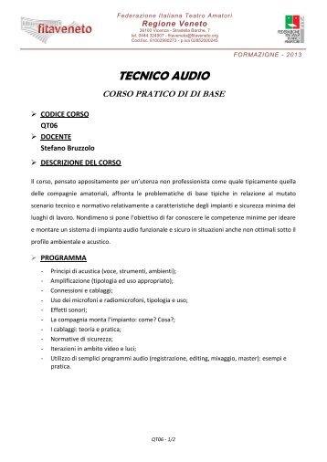 TECNICO AUDIO - FITA Veneto