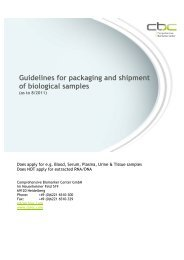 cbc Guidelines for packaging and shipment of biological samples