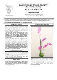 July - Maribyrnong Orchid Society